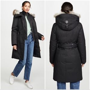 Mackage Harlowe Down Coat Black Fur Hood M NWT